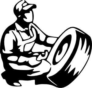 Drawing ties svg. Tire mechanic crafts by