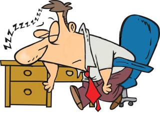 Tired clipart. At work