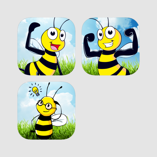 Tired clipart bee. Super cute sticker collection