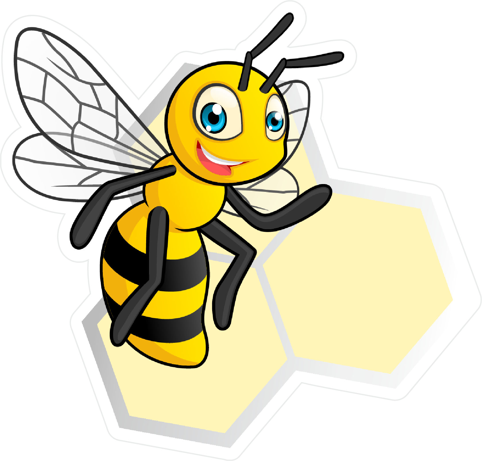 Tired clipart bee. Box wraps logo decal