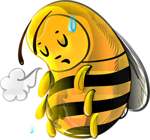 Tired clipart bee.