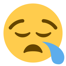 Weary emoji png. Free face sleep tired