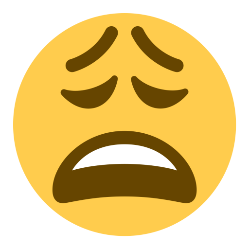 Tired emoji png. Face weary icon free