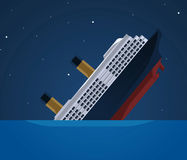 Titanic clipart. Sinking stock illustrations ship vector freeuse stock