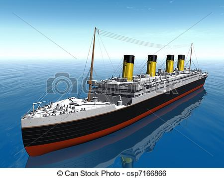 Titanic clipart. Ship picture black and white library