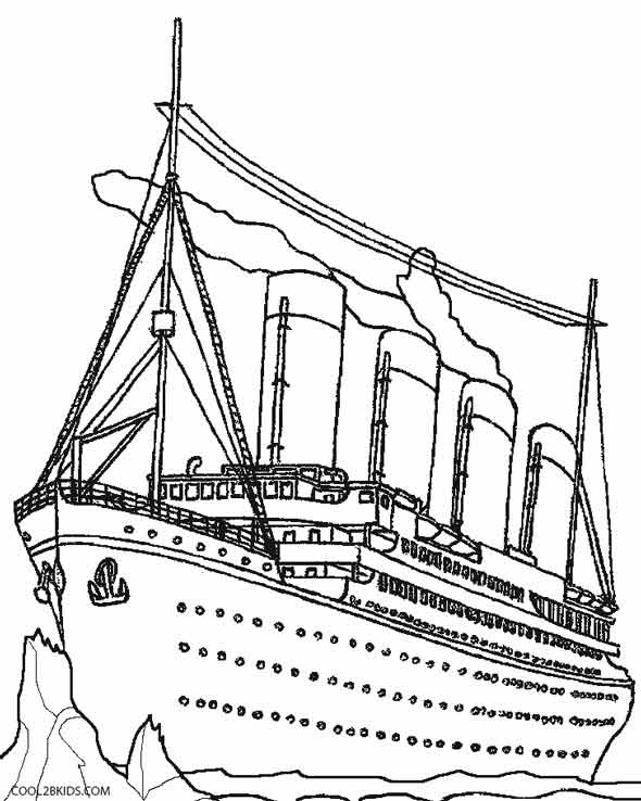 Titanic clipart color. Black and white pencil