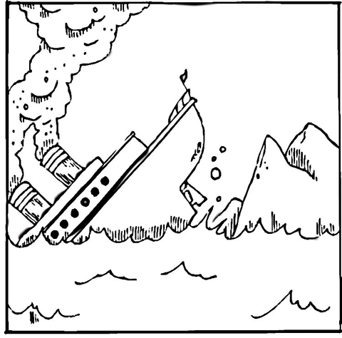Titanic clipart color. Coloring page free printable