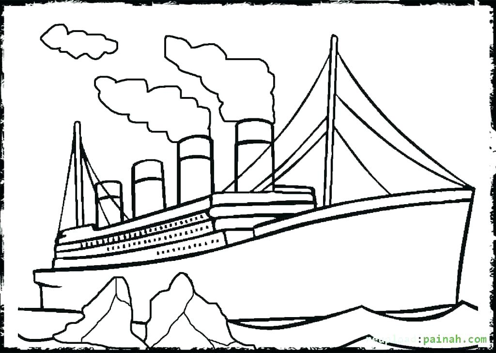 Titanic clipart color. Drawing at getdrawings com