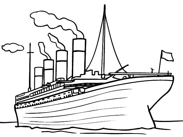 Titanic clipart printable. Rms coloring pages sailing