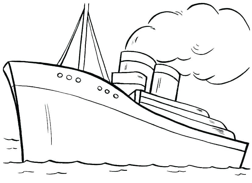 Titanic clipart printable. Coloring page lovely pages
