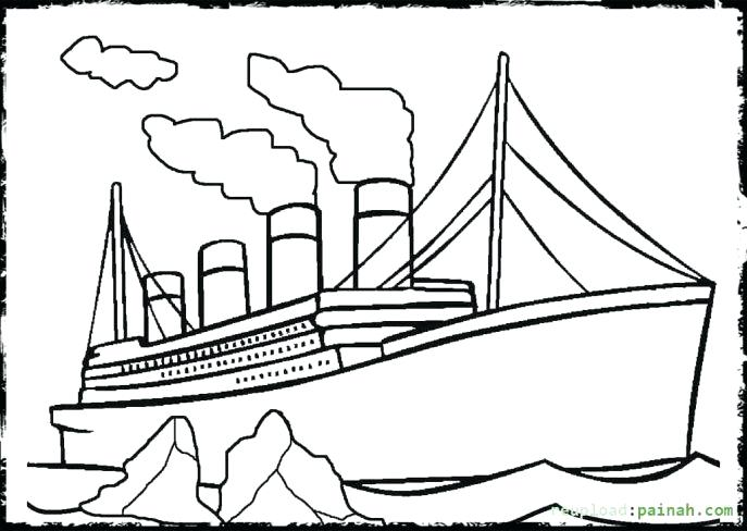 Titanic clipart printable. Coloring pictures ship drawing