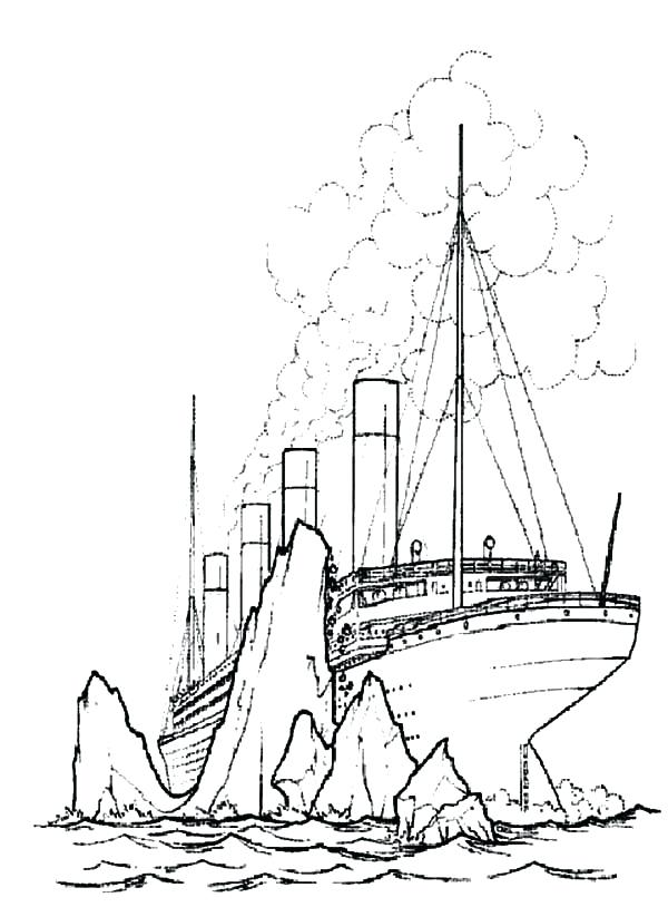 Titanic clipart titanic line. Ship drawing at getdrawings