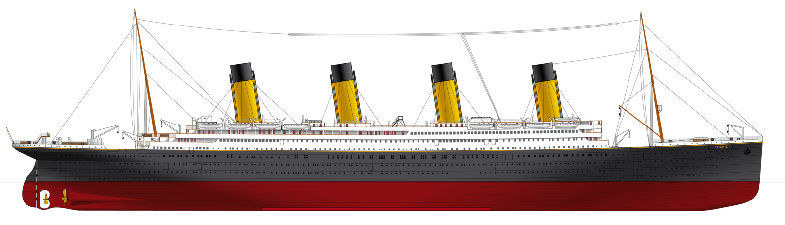 Titanic ship png. White star lines gifts