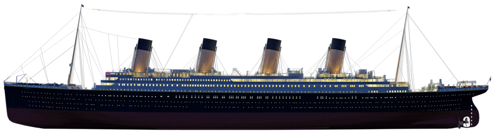 Titanic ship png. Watch the sink in