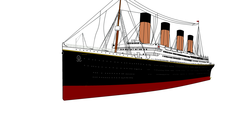 Titanic transparent. Rendered hull by pivotsprites
