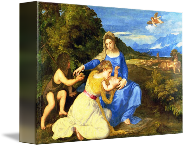 Titian drawing. The aldobrandini madonna by
