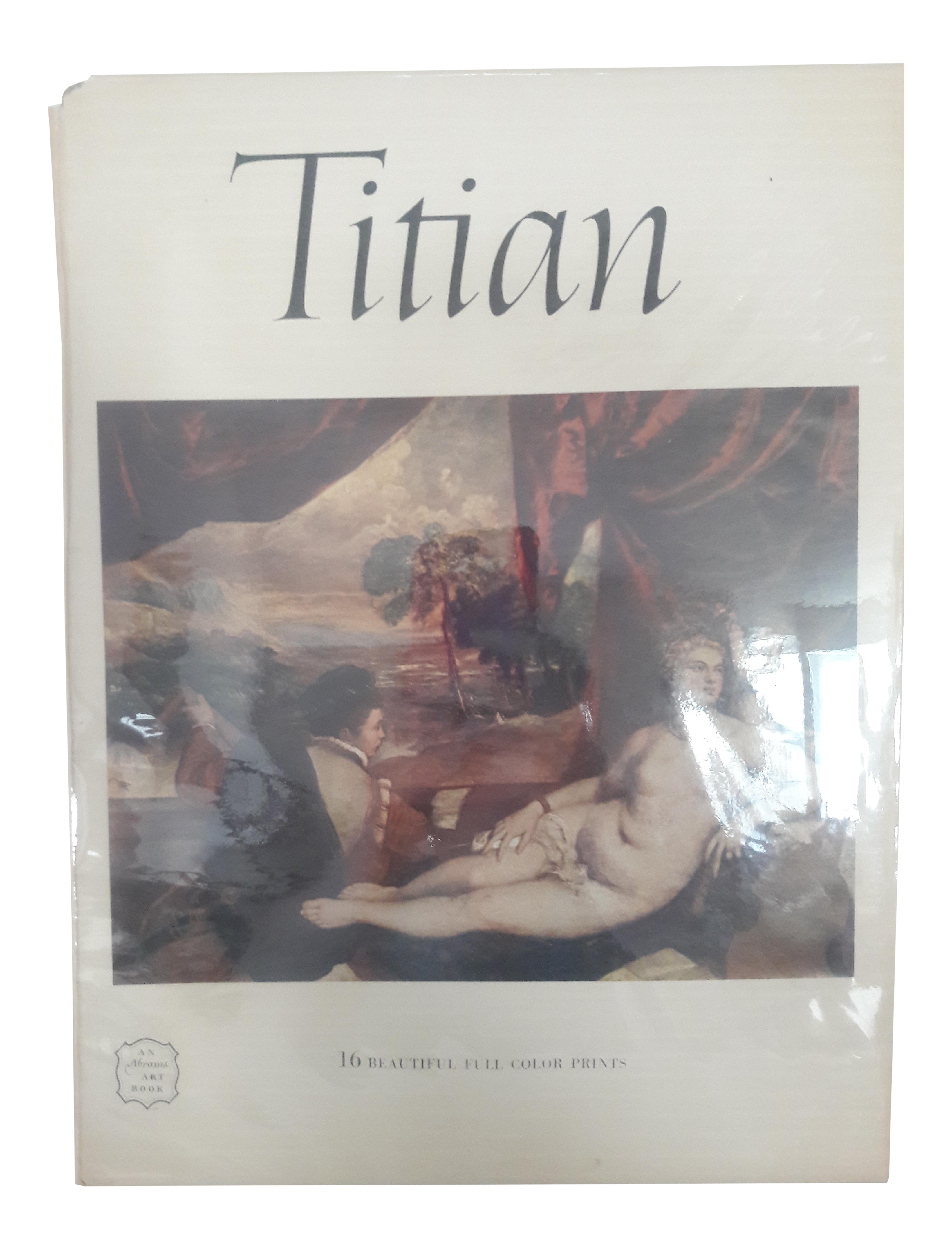 Titian drawing landscape. Art book by abrams