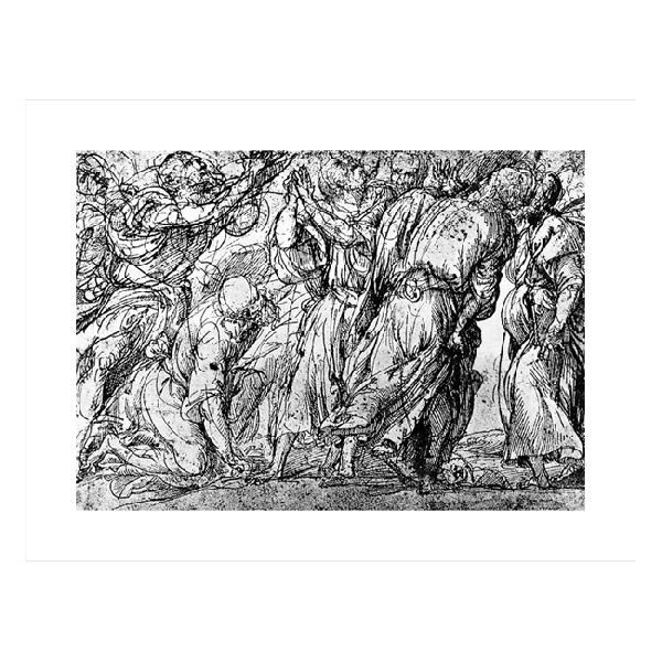 Titian drawing line. T artist apostles group