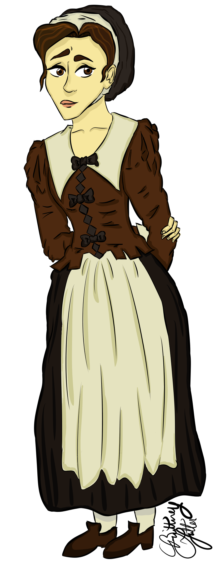 Tituba drawing abigail. Williams by skelligraphy on