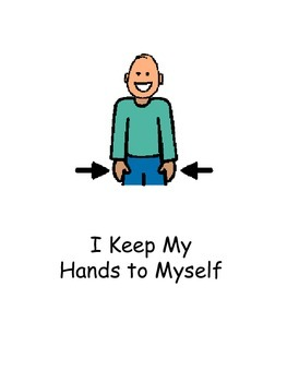 To self clipart keep. Hands social story by