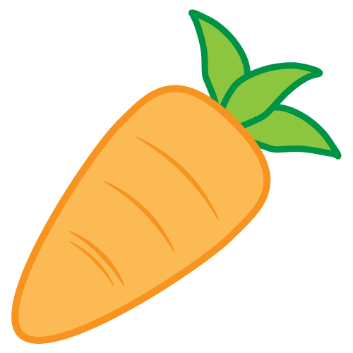 To the clipart carrot.