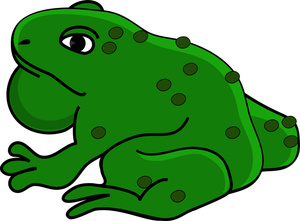 Toad clipart christmas. Free clip art image