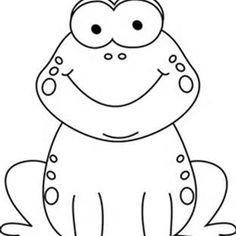 Toad clipart clip art. Black and white cartoon