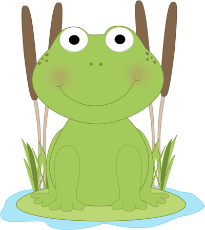 Lilypad drawing amphibian. Frog clip art in