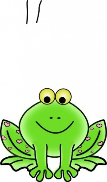 Toad clipart valentine. Green frog with pink