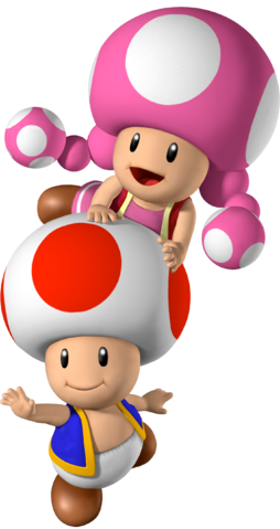 Toad transparent toadette. Image and mario party