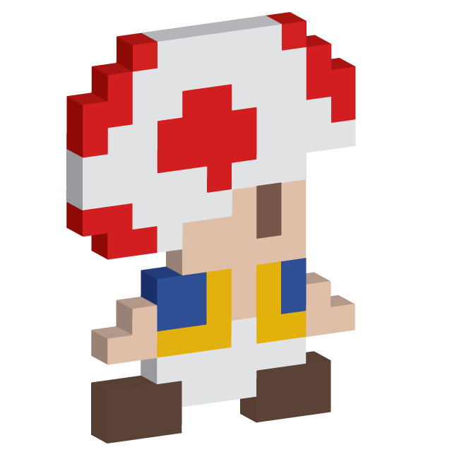 Toad transparent 8 bit. D by thesocialbomber