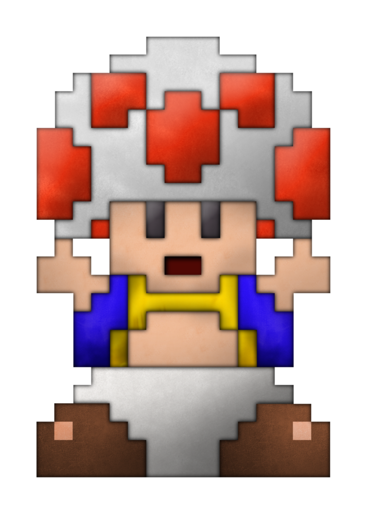 Toad transparent 8 bit. Real life by brulescorrupted