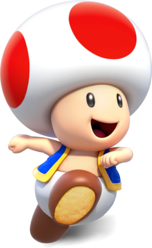 Toad transparent animated. Comes from another castle