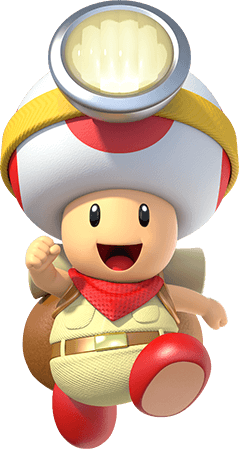 Toad transparent animated. Captain treasure tracker for