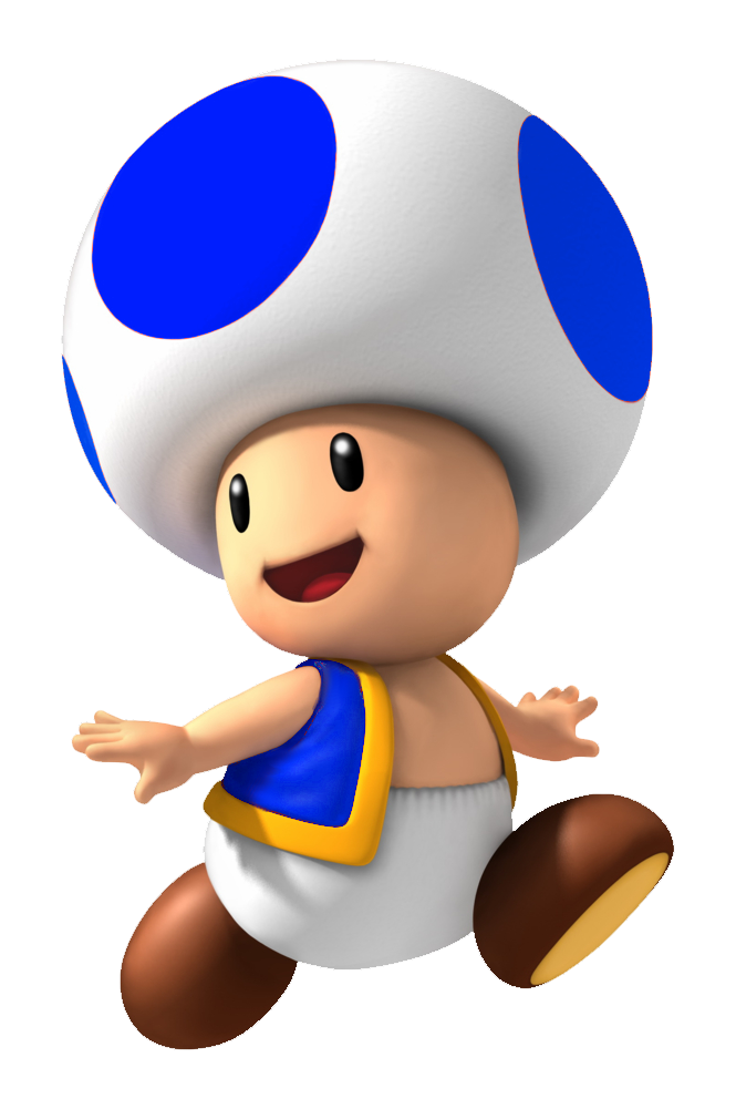 Toad transparent blue. Troll the super gaming