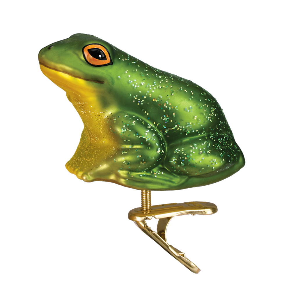 Toad transparent glass. Frog ornaments decorations le