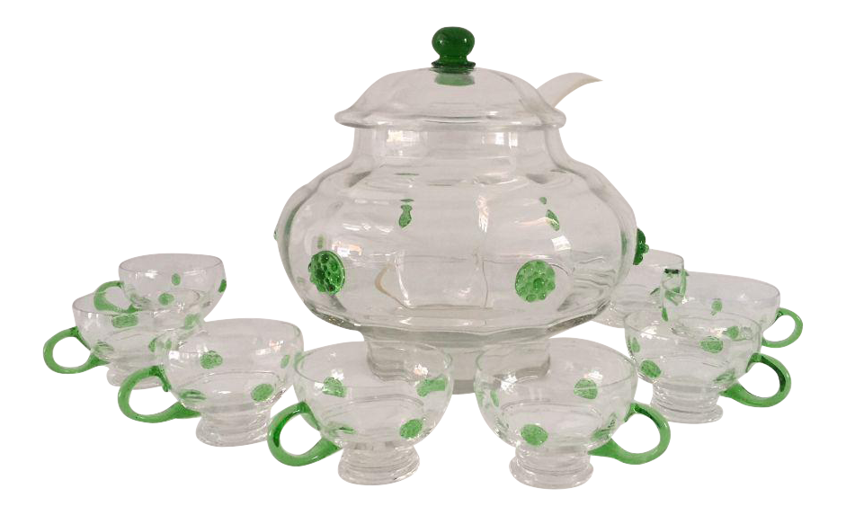 Toad transparent glass. Bohemian hand blown clear