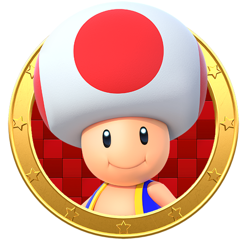 Toad transparent icon mario. Party star rush legacy