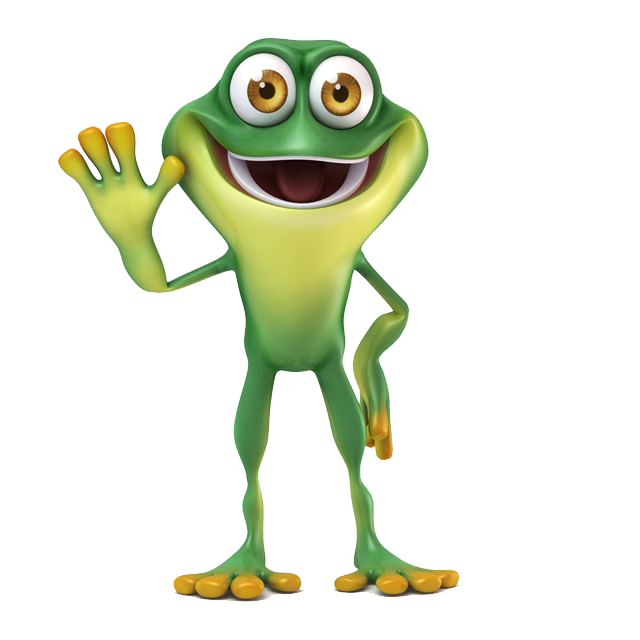 Toad transparent little. Frog thumb signal stock