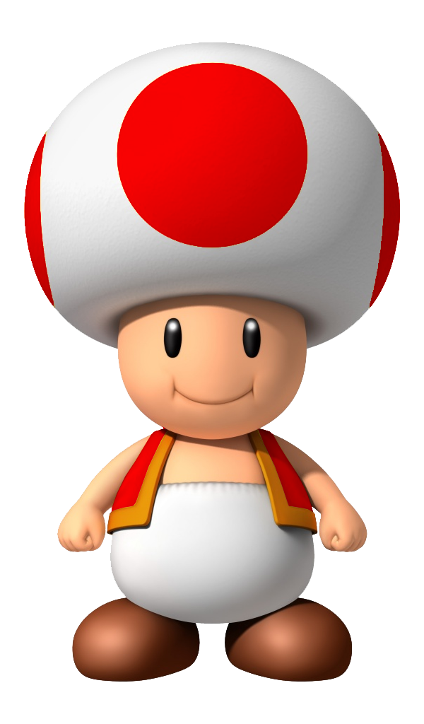 Toad transparent red. My favorite pinterest mario