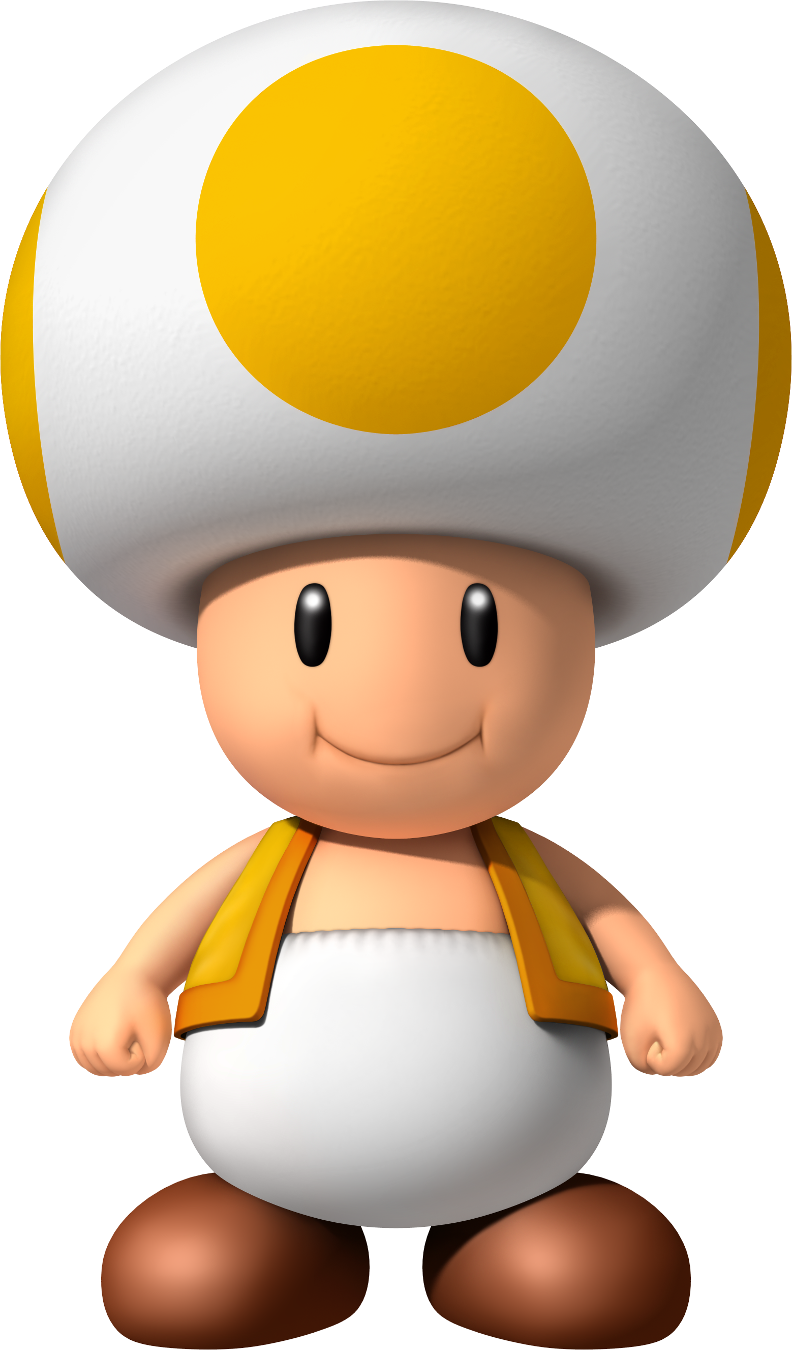 Toad transparent yellow. Image nsmbw png mighty