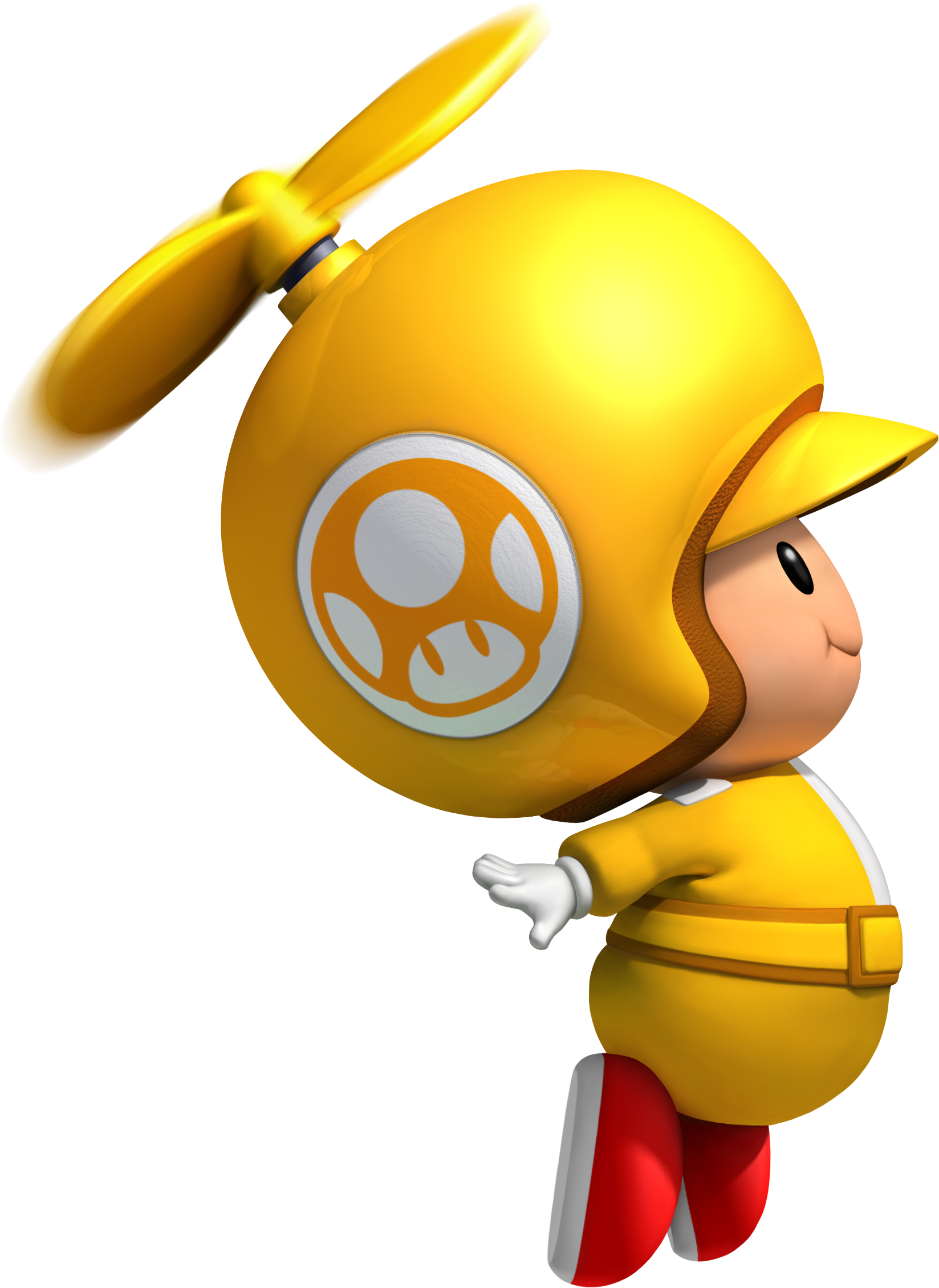 Toad transparent yellow. Image propeller png the