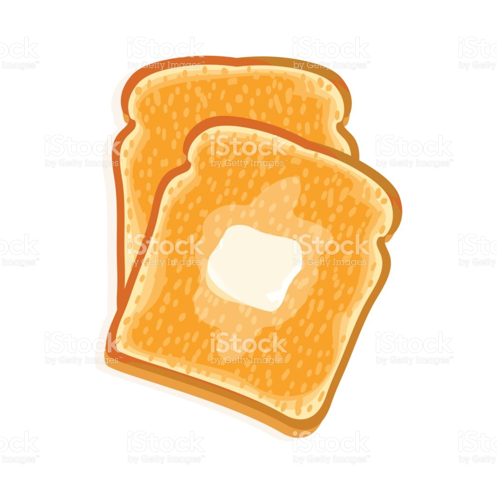 Toast clipart. Unusual ideas with butter