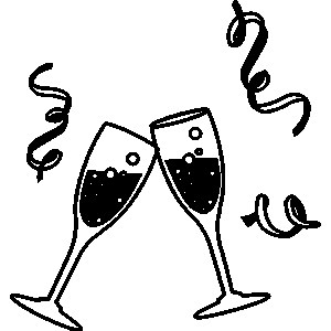 Toast clipart holiday cheer. New year clip art