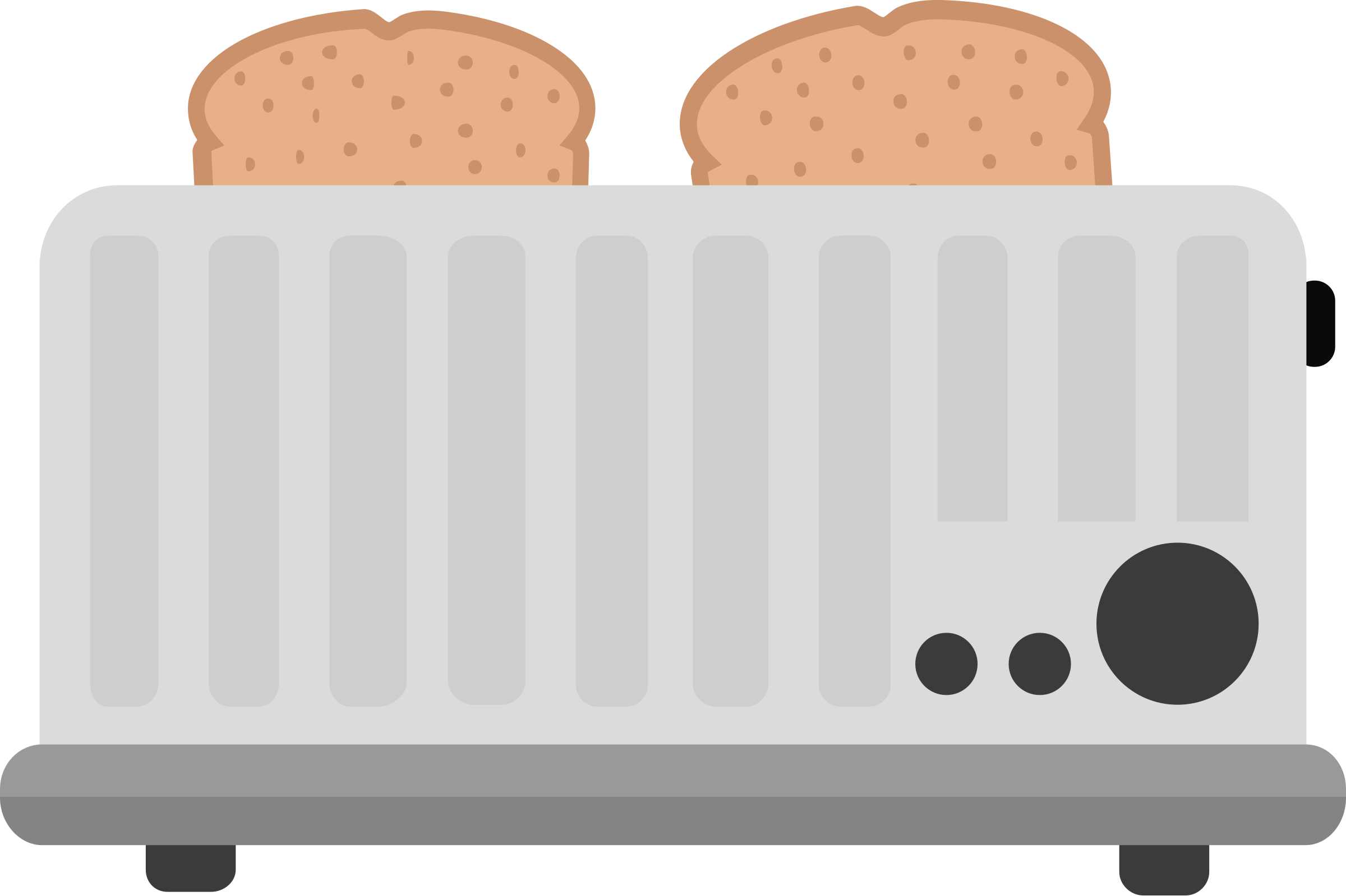 Toaster clipart breakfast toast. With big image png