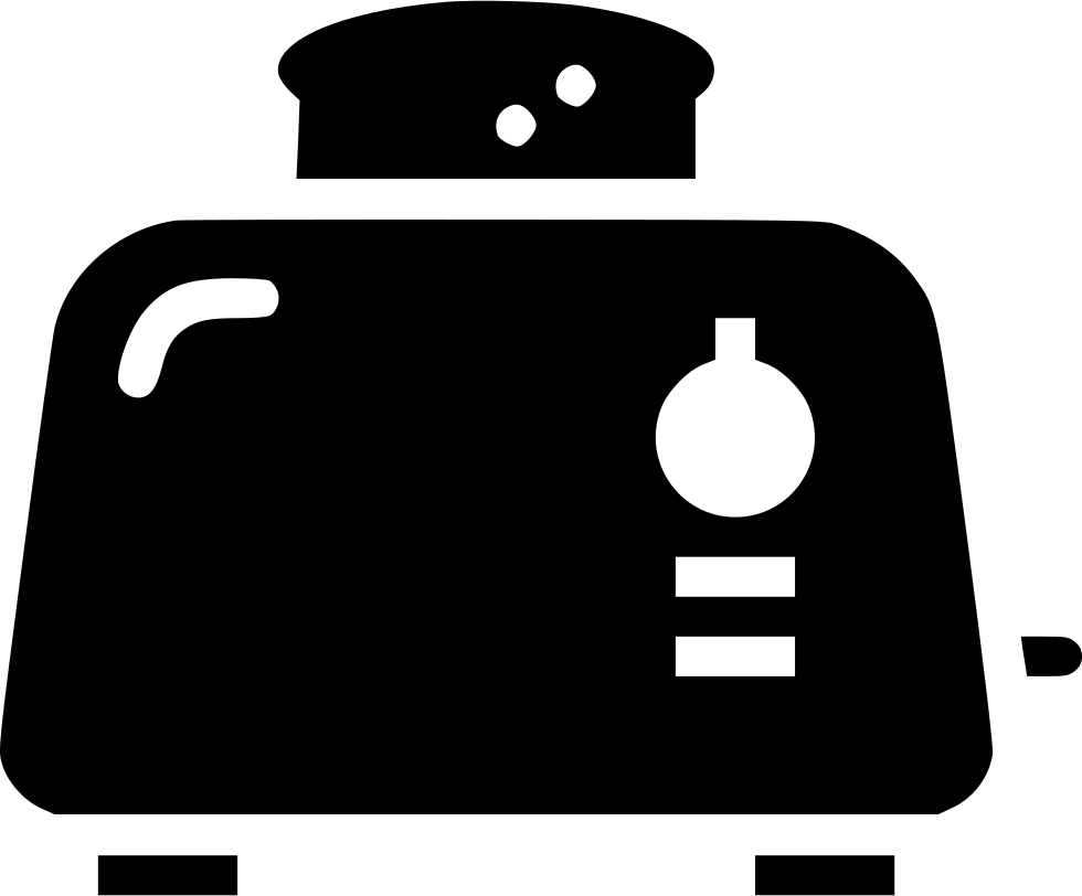 Toaster clipart breakfast toast. Bread appliance svg png