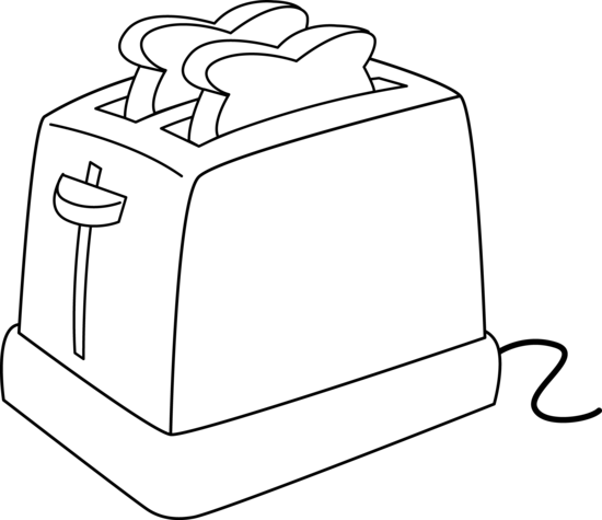 Toaster clipart draw. Electric line art free