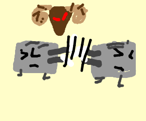 Toaster clipart epic. Two toasters having v