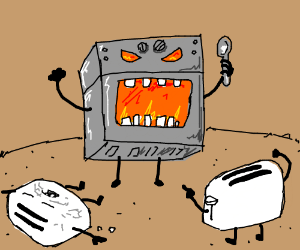 Toaster clipart epic. Battle vs microwave and