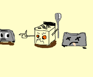 Toaster clipart epic. Battle vs microwave oven